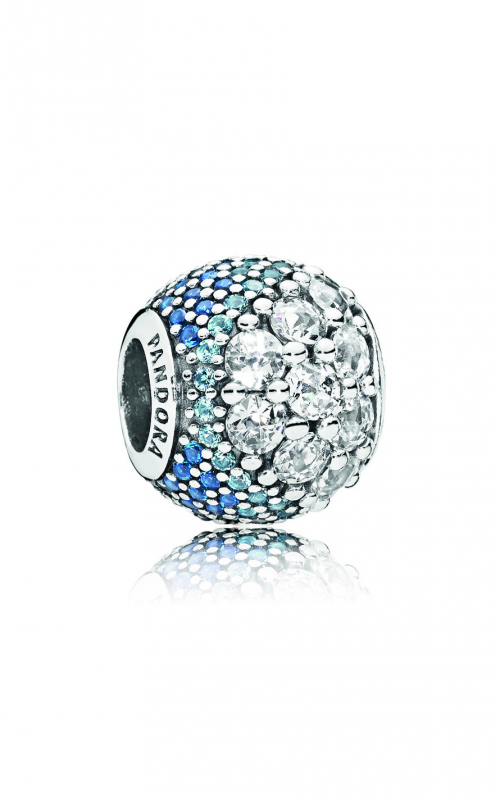 PANDORA Blue Enchanted Pavé Charm, Blue & Clear CZ 797032NABMX product image