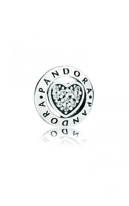 PANDORA Signature Heart Petite Locket Charm 797048CZ product image