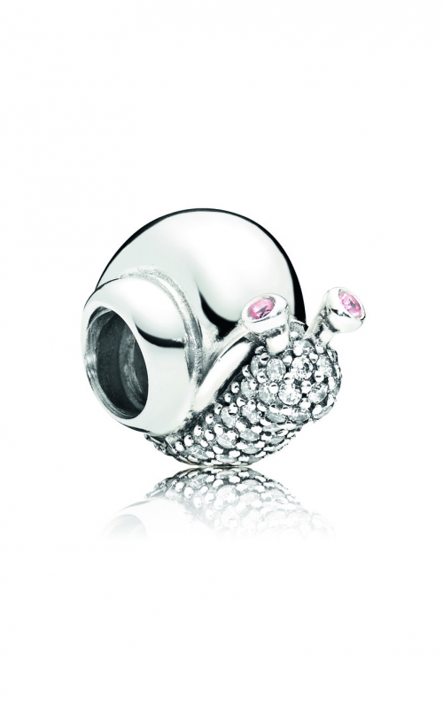 PANDORA Sparkling Snail Charm, Clear & Orchid CZ 797063CZ product image
