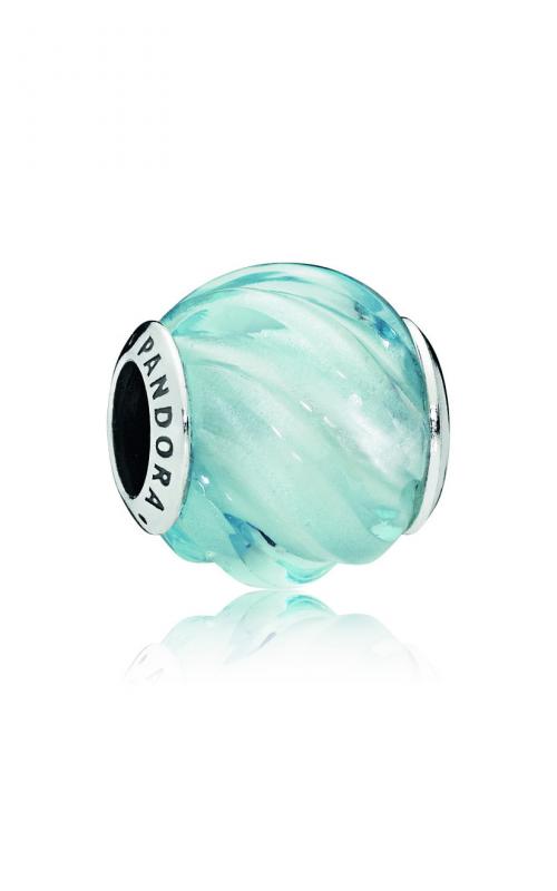 PANDORA Blue Ripples Charm, Aqua Blue Crystal 797098NAB product image