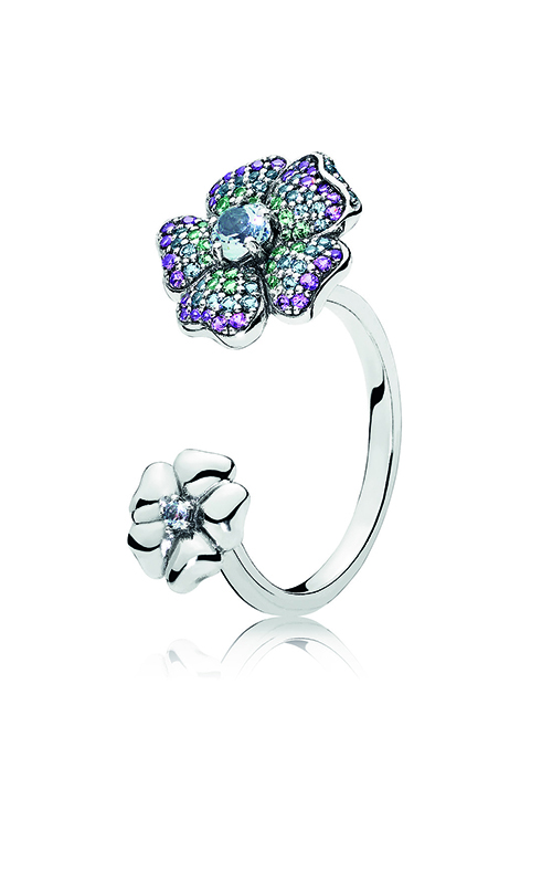 PANDORA Glorious Blooms Ring, Multi-Colored CZ 197086NRPMX-60 product image