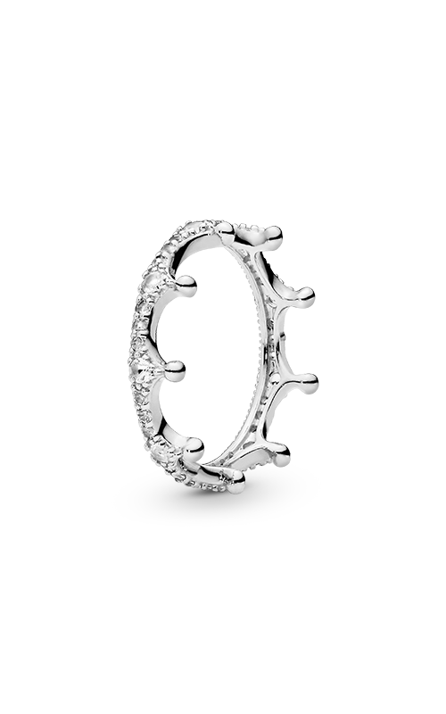 PANDORA Enchanted Crown Ring, Clear CZ 197087CZ-58 product image