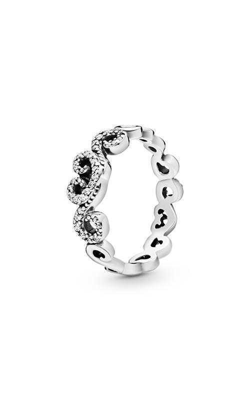PANDORA Heart Swirls Ring, Clear CZ 197117CZ-50 product image