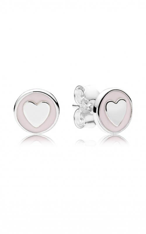 Sweet Statements Stud Earrings, Pale Pink Enamel 297275EN160 product image