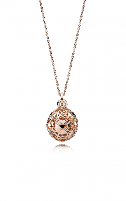 Pandora ROSE™, Harmonious Hearts Chime Necklace 387299-90 (Retired) product image
