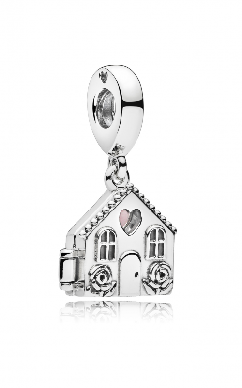 Perfect Home Dangle Charm, Pale Pink Enamel 797056EN160 product image