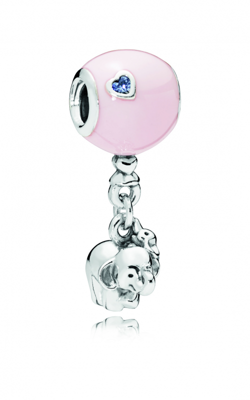 Elephant & Pink Balloon Dangle Charm, Pink Enamel 797239EN160 product image