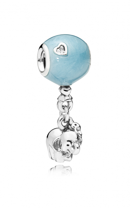 Elephant & Blue Balloon Dangle Charm, Blue Enamel & Clear CZ 797239EN169 product image