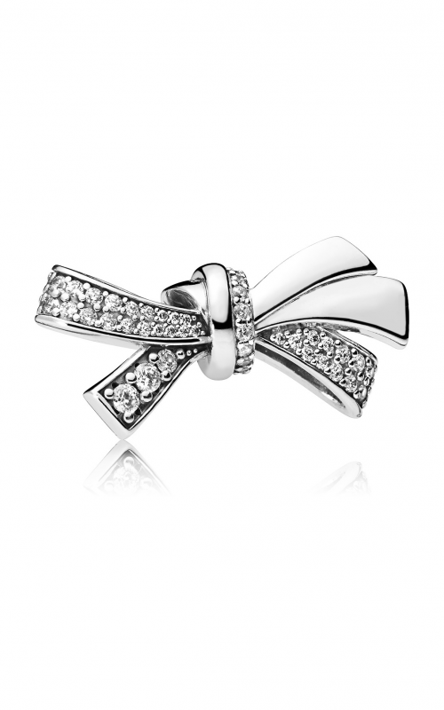 Brilliant Bow Charm, Clear CZ 797241CZ product image