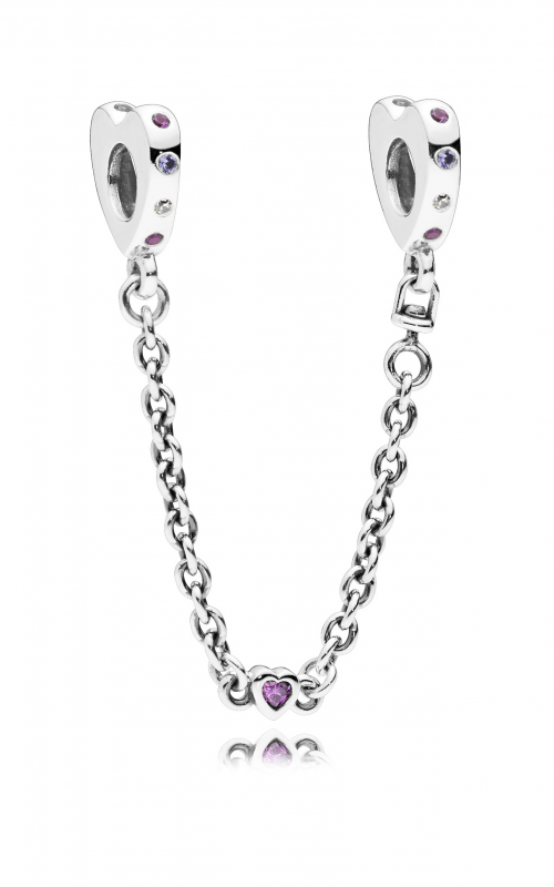 Bright Hearts Safety Chain, Pink Crystals 797245NRPMX-05 product image