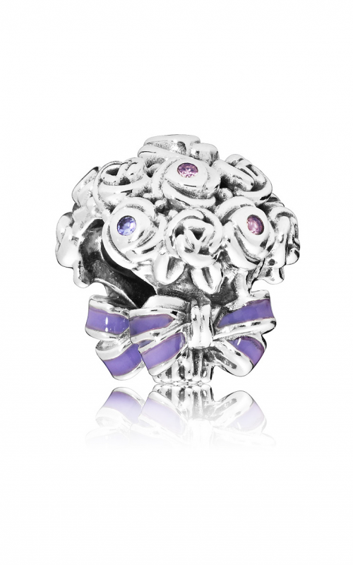 Celebration Bouquet Charm, Lilac & Rose Pink Crystals & Purple Enamel 797260NLC product image