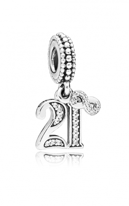 21 Years of Love Dangle Charm, Clear CZ 797263CZ product image