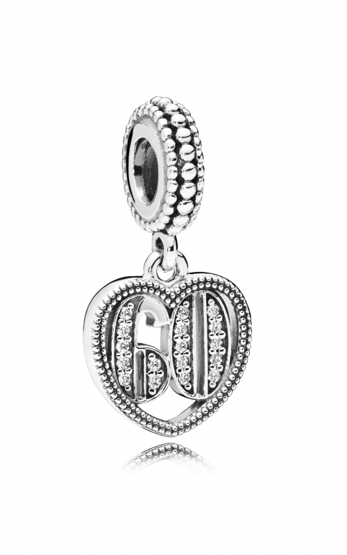 60 Years of Love Dangle Charm, Clear CZ 797265CZ product image
