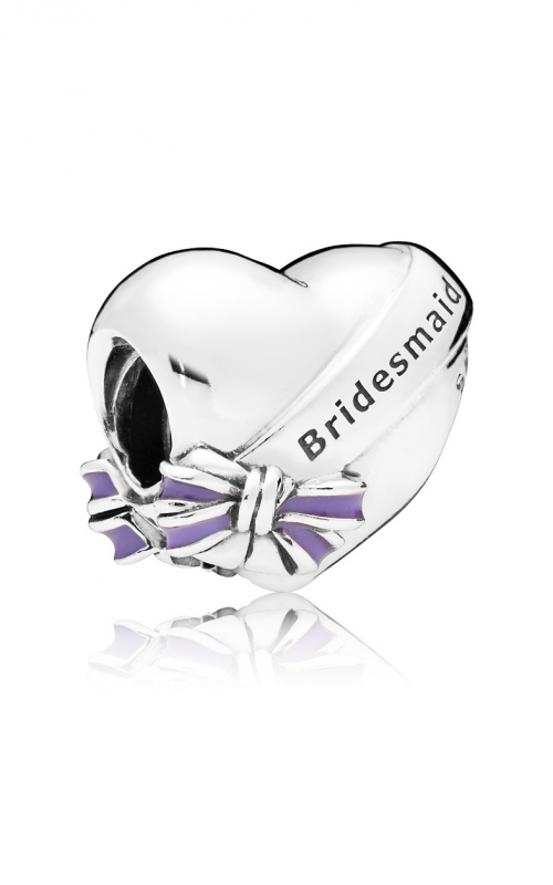 Best Bridesmaids Charm, Transparent Purple Enamel 797272EN159 product image