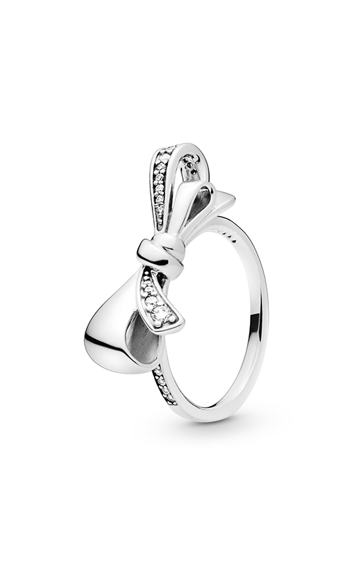 Brilliant Bow Ring, Clear CZ 197232CZ-52 product image