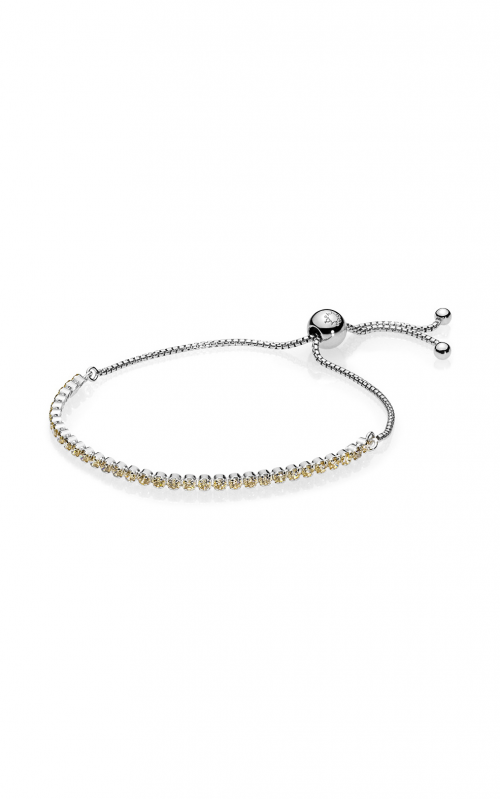 Golden Sparkling Strand Bracelet, Golden-Colored CZ 590524CCZ-2 product image