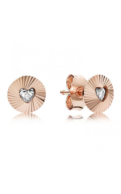 PANDORA Rose™ & Clear CZ, Vintage Fans Earrings 287297CZ product image