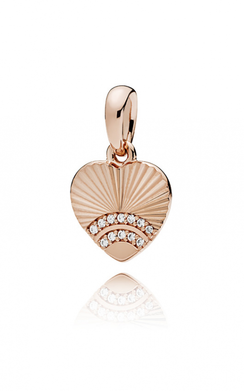 PANDORA Rose™ & Clear CZ, Fan of Love Pendant 387286CZ product image
