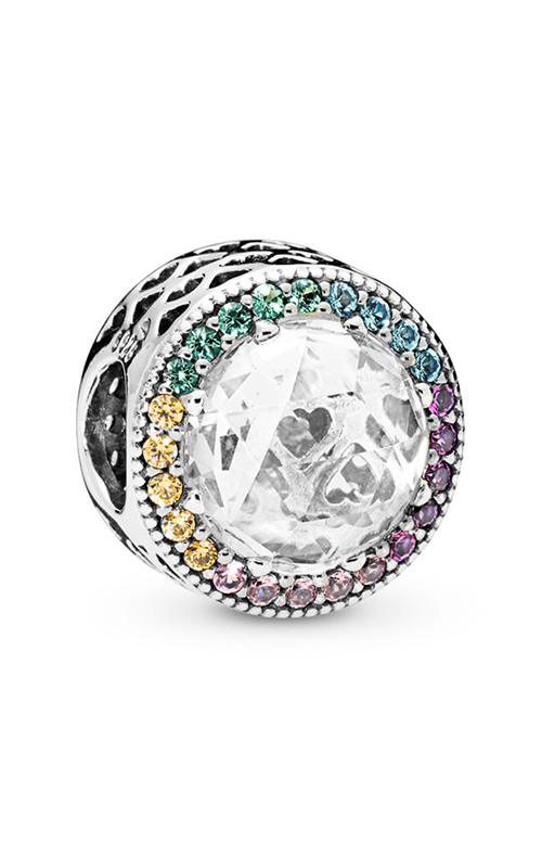 PANDORA Multi-Color Radiant Hearts Charm, Multi-Colored CZ 791725CZMX product image