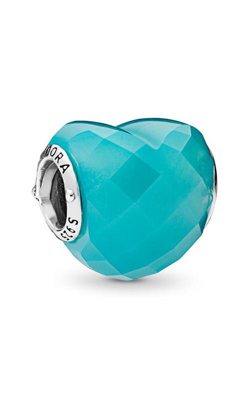 PANDORA Shape of Love Charm, Scuba Blue Crystal 796563NSC product image