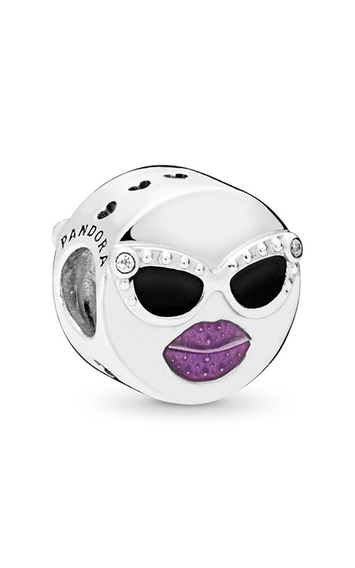 PANDORA Stay Cool Charm, Black & Purple Enamel & Clear CZ 797184CZ product image