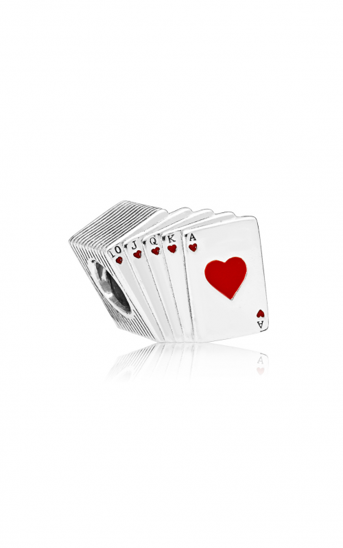 PANDORA Playing Cards Charm, Red & Blacke Enamel 797195EN09 product image
