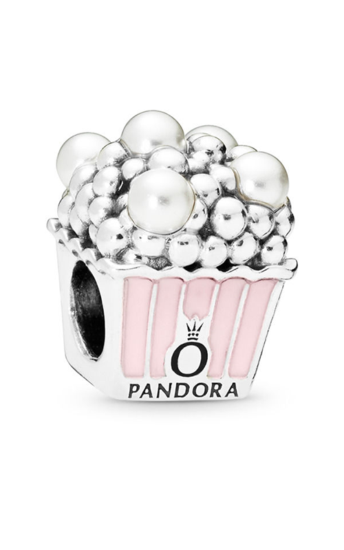 PANDORA Delicious Popcorn Charm, Pale Pink Enamel & White Crystal Pearls 797213EN160 product image