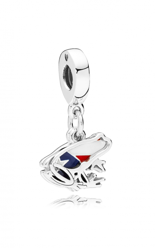 Pandora Love Puerto Rico Dangle Charm, Red, White & Blue Enamel 797222ENMX product image