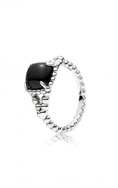 PANDORA Vibrant Spirit Ring, Black Crystal 197188NCK-56 product image