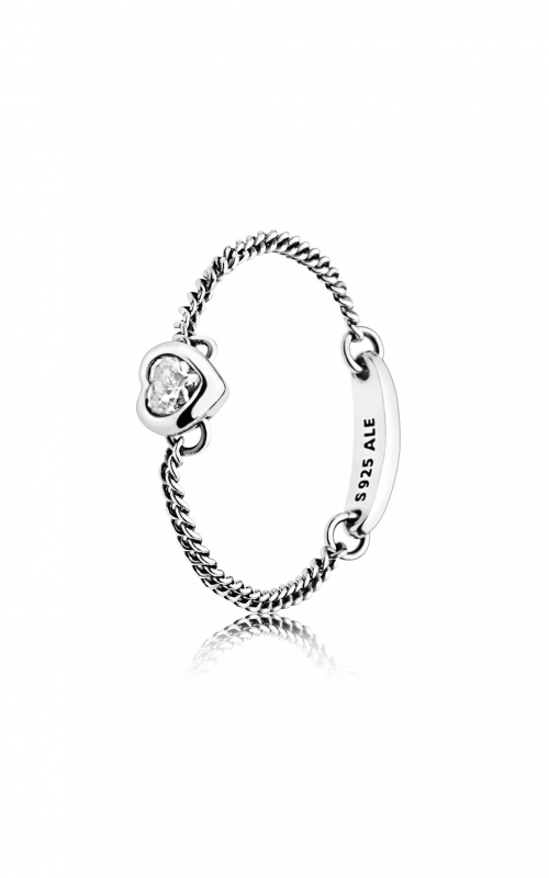 PANDORA Spirited Heart Ring, Clear CZ 197191CZ-60 product image