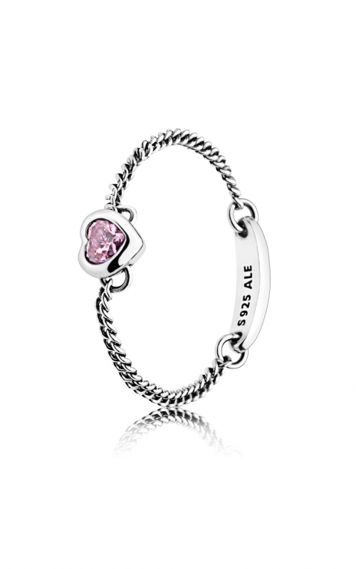 PANDORA Spirited Heart Ring, Pink CZ 197191PCZ-50 product image