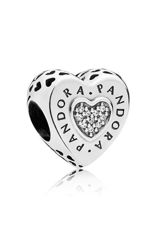 Pandora Signature Heart Charm Clear CZ 797375CZ product image
