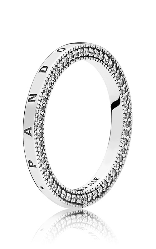 PANDORA Signature Hearts of PANDORA Ring Clear CZ 197437CZ-52 product image
