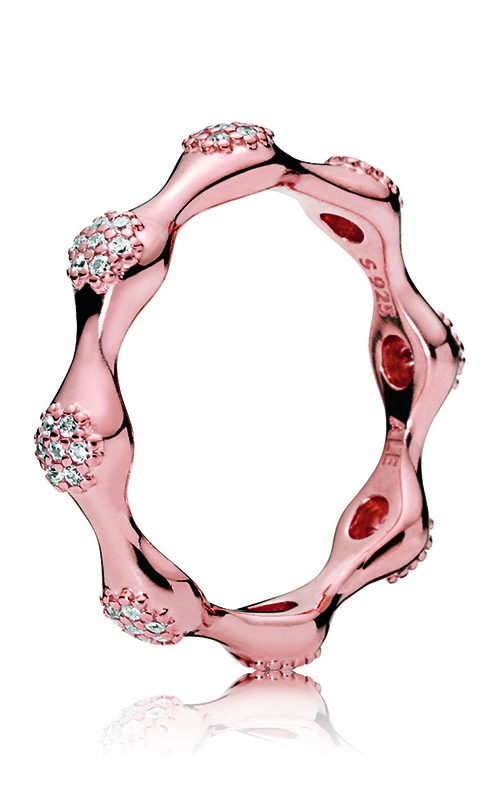 Modern LovePods™ Ring PANDORA Rose™ & Clear CZ 187295CZ-52 product image
