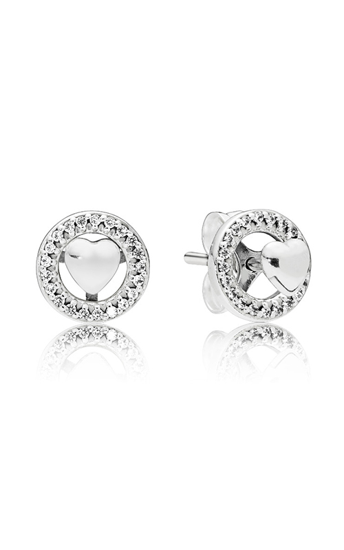 b55da1f33 Forever PANDORA Hearts Clear CZ Earrings 297709CZ product image