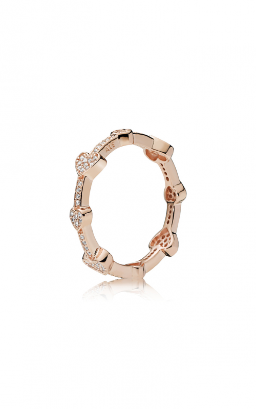 PANDORA Rose™ Alluring Hearts Clear CZ Fashion Ring 187729CZ-56 product image