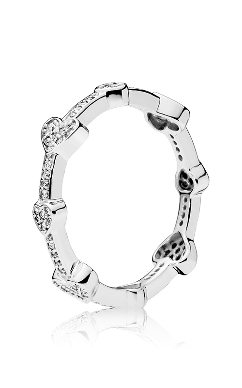 299d465e4 PANDORA Alluring Hearts Clear CZ Fashion Ring 197729CZ-48 product image