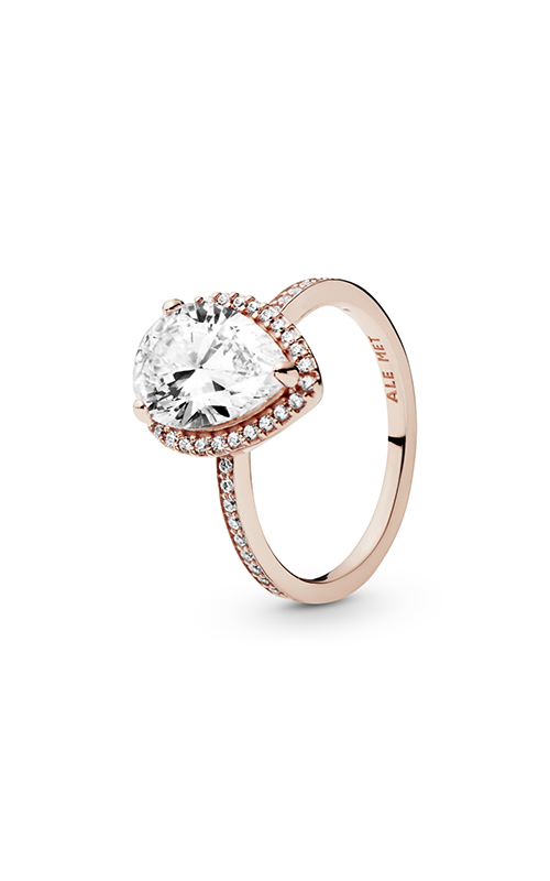 PANDORA Rose™ Radiant Teardrop Clear CZ Fashion Ring 186251CZ-52 product image