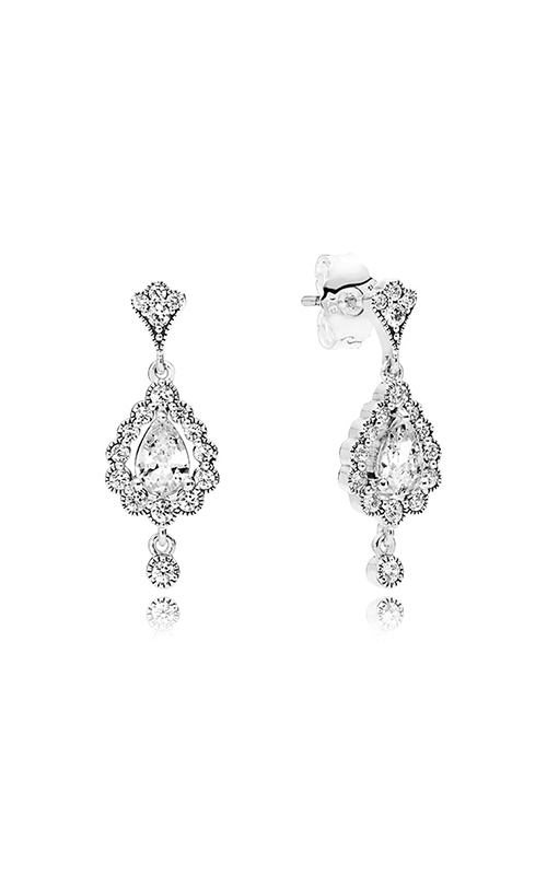 PANDORA Heraldic Radiance Clear CZ Earrings 297714CZ product image