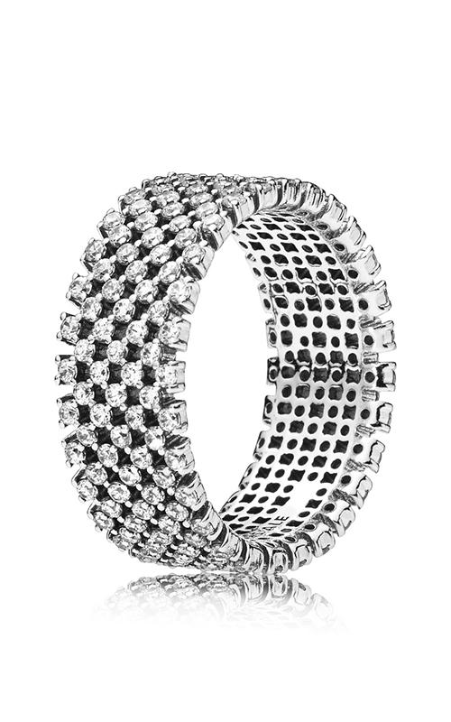 PANDORA Heraldic Check Clear CZ Fashion Ring 197695CZ-52 product image