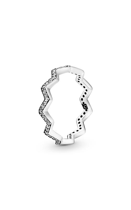 PANDORA Shimmering Zigzag Clear CZ Fashion Ring 197751CZ-50 product image