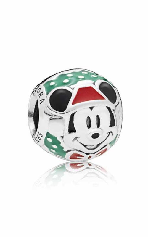 PANDORA Disney Santa Mickey Charm Red & Green Enamel 797502ENMX product image