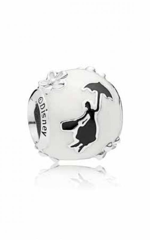 Pandora Disney, Mary Poppins' Silhouette Charm, White & Black Enamel 797510ENMX product image