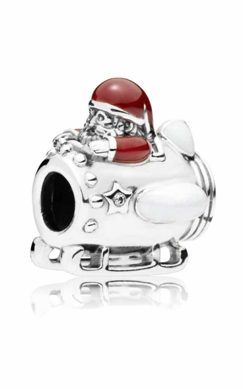 PANDORA Santa in Space Charm Clear CZ & Multi-Colored Enamel 797511ENMX product image