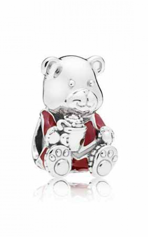 PANDORA Christmas Bear Charm Red & White Enamel 797564ENMX product image