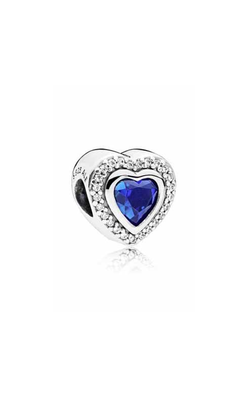 Pandora Sparkling Love Charm Clear CZ & Blue Crystal 797608NANB product image