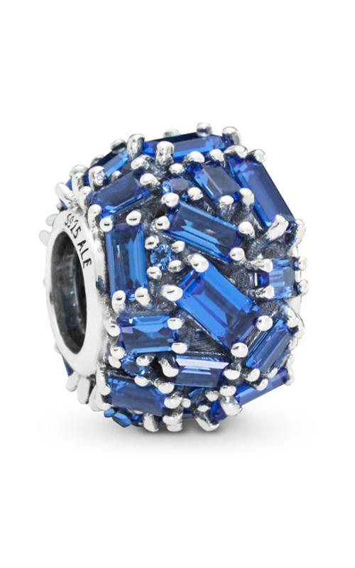 Pandora Chiselled Elegance Charm Blue Crystal 797746NSBL product image