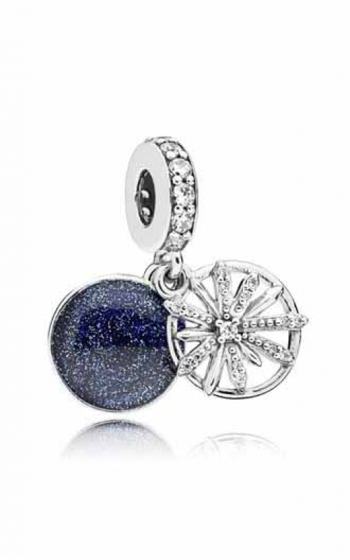 Pandora Dazzling Wishes Dangle Charm Clear CZ & Blue Enamel 797531CZ product image