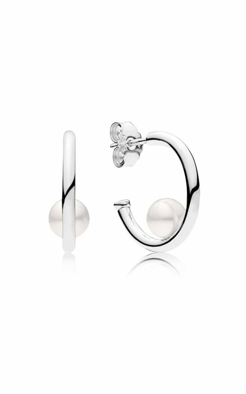 PANDORA Contemporary Pearls Hoop Earrings Freshwater Cultured Pearl 297528P product image