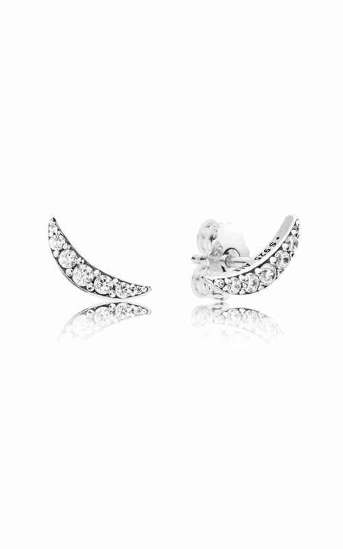 Pandora Lunar Light Stud Earrings Clear CZ 297569CZ product image